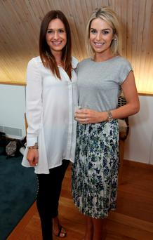 Night off: Pippa O'Connor, right, with Roxanne Parker at the Parfois launch