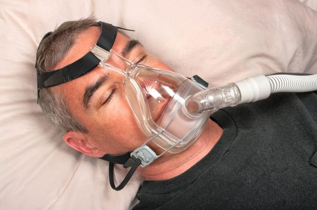 Sleep anea can be treated by wearing a CPAP machine that aids breathing in order to prevent a blockage in the throat, right