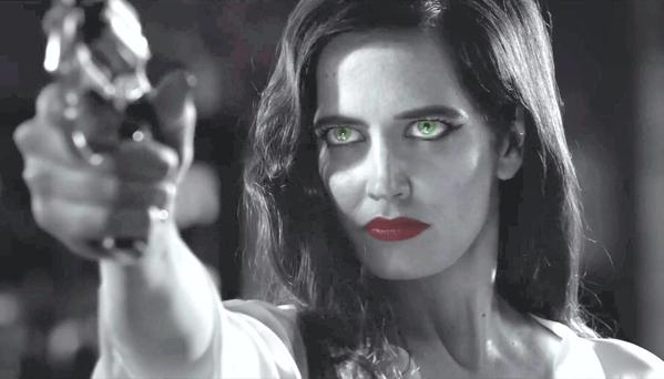 Green-eyed killer: Eva Green as Ava in Sin City 2