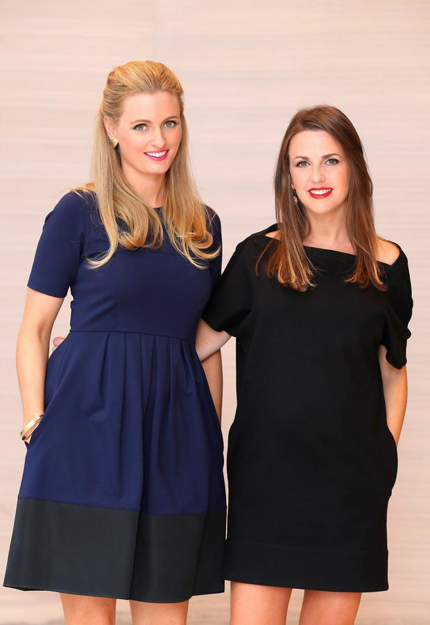 Sisters Dairine and Keira Kennedy in Brown Thomas Dublin as the store unveiled the 4th annual Irish Designers CREATE.