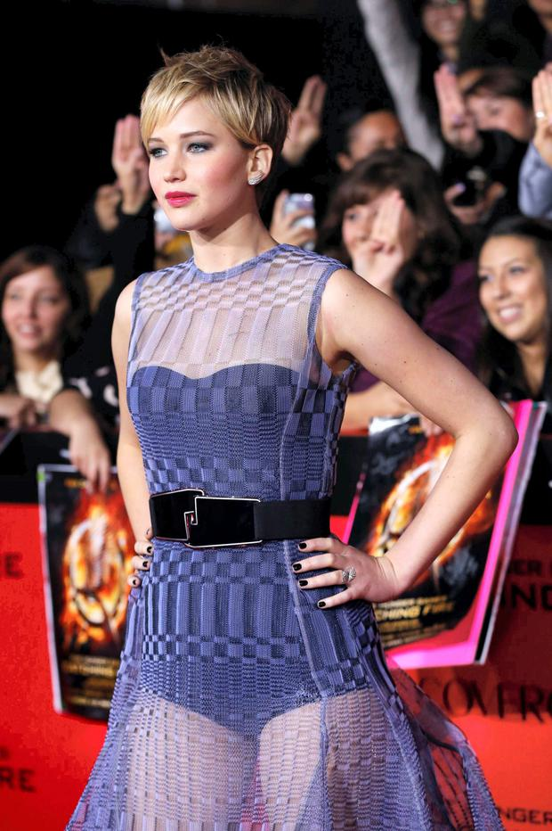 Hacked: the nude pictures of Jennifer Lawrence appeared online on Sunday