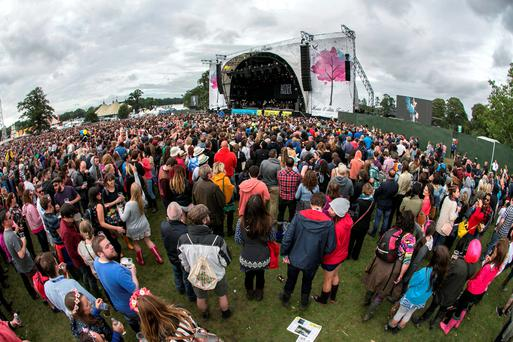 Some of the Large crowd at the Electric Picnic on Sat evening to see Hozier