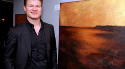 Steven Mannion Farrell launched his collection of paintings at Saison Restaurant, Kildare Street, Dublin