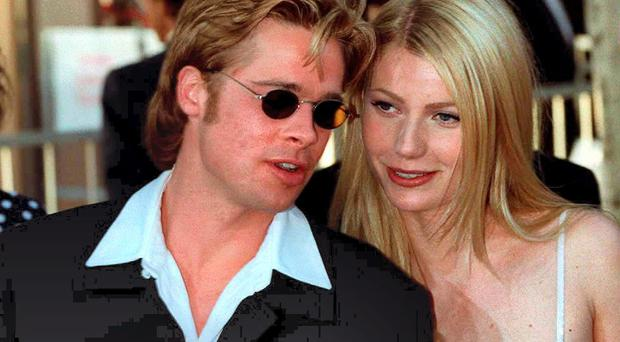 Brad Pitt with his then girlfriend Gwyneth Paltrow in 1996