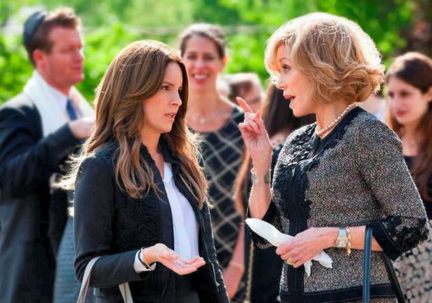 Tina Fey and Jane Fonda in This Is Where I Leave You.