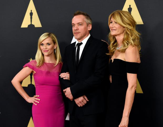 Actress Reese Witherspoon, director Jean-Marc Vallee and actress Laura Dern