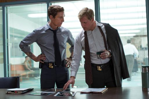 Matthew McConaughey and Woody Harrelson in 'True Detective'.
