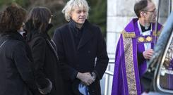 Bob Geldof at the removal of his aunt, dress-maker Mary Eileen Geldof. Photo: Mark Condren