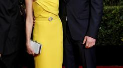 Actors Naomi Watts and Liev Schreiber arrive at the 72nd Golden Globe Awards in Beverly Hills