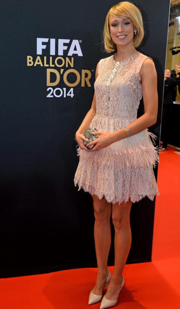Stephanie Roche turned heads at the Ballon D'Or in Zurich.