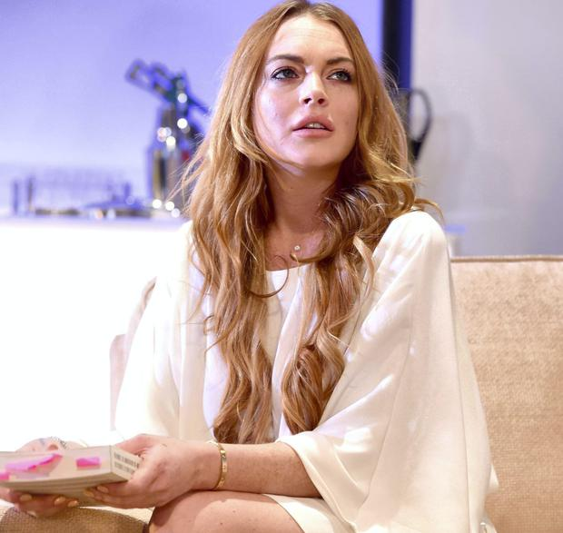 On Stage: Lindsay Lohan on stage in 'Speed The Plow' at the Playhouse Theatre, London