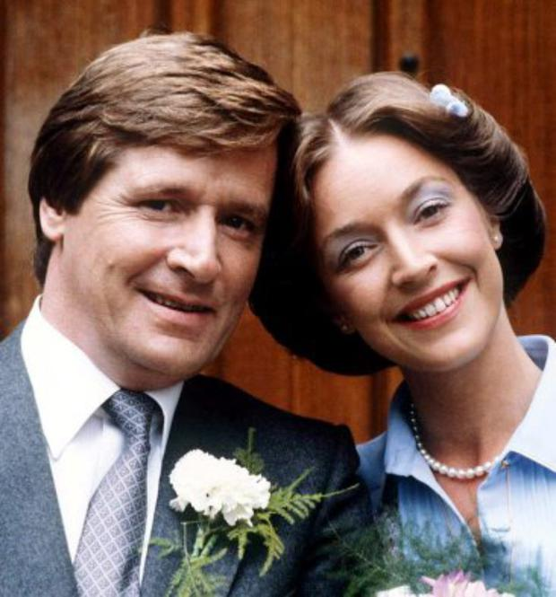 Ken and Deirdre first wedding in 1981.