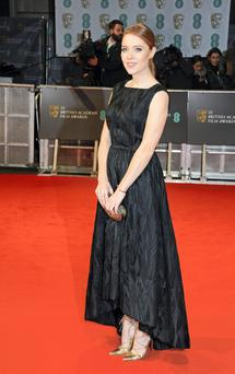 Angela Scanlon on the red carpet at the Baftas