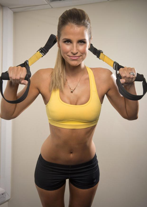 FIGHTING FIT: Vogue Williams's star is on the rise