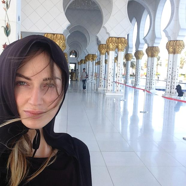 'Women are not allowed to enter without wearing a traditional robe, known as an abaya. They can be picked up outside' — Daniella at the Sheikh Zayed Grand Mosque