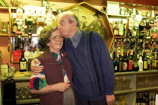 Playwright John B Keane with his wife Mary
