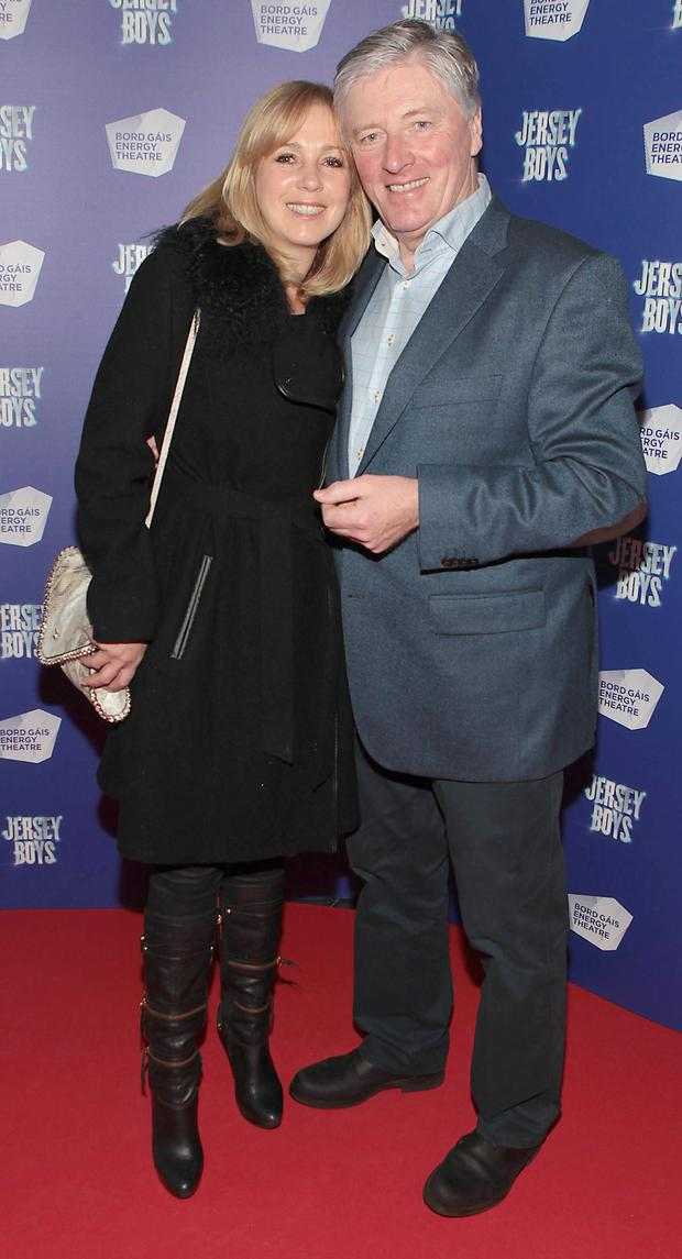 Kathy and Pat Kenny at the opening night of Jersey Boys