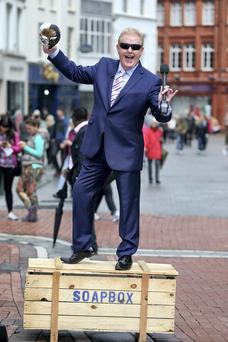 Julian Simmons when he landed on Dublin's Grafton street in the search for new faces to introduce the soaps, drama and entertainment.