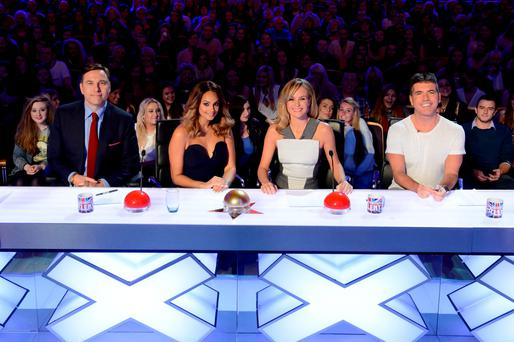 2014 Britain's Got Talent judges David Walliams, Alesha Dixon, Amanda Holden and Simon Cowell