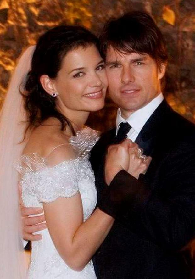 Katie Holmes and Tom Cruise on their wedding day in 2006