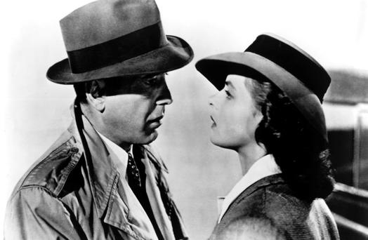 'We'll always have Paris': Humphrey Bogart and Ingrid Bergman in the Oscar winning 'Casablanca'