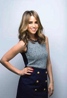 Rachel Stevens: Top,€155, Sandro. Skirt, €390, Kenzo. Photo: Mark Nixon