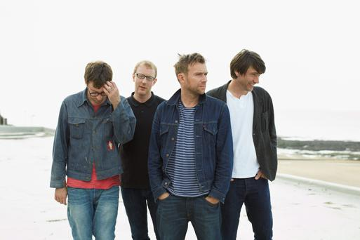 Boys to men: Current-day Blur, l-r, Graham Coxon (guitar); Dave Rowntree (drums); Damon Albarn (vocals) and Alex James (bass)