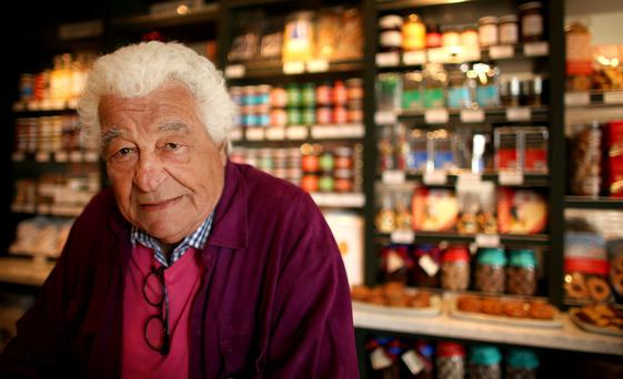 A life less ordinary: Antonio Carluccio, pictured at his new venture in Glasthule, has the devil-may-care air of a man who has lived a very full life. Photo: Gerry Mooney