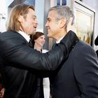 Best buds: Brad Pitt and George Clooney