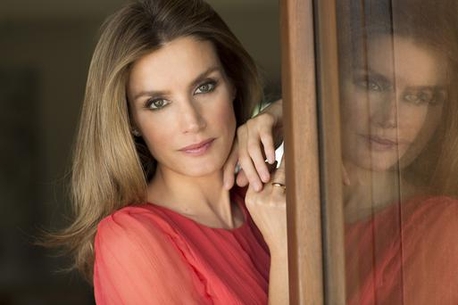True blue: Queen Letizia of Spain