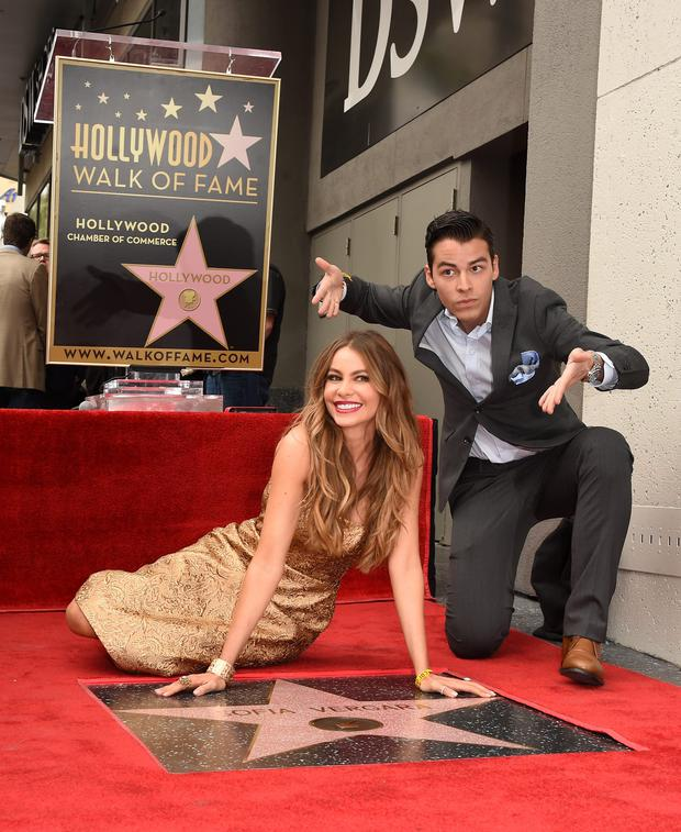 Sofia Vergara unveiling her walk of fame with son Manolo