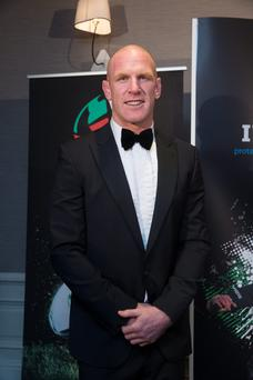 Paul O'Connell at the Hibernia College IRUPA Rugby Players Awards 2015 at the Doubletree by Hilton in Dublin. Picture: Arthur Carron