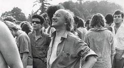 Michael D. Higgins at Slane castle in 1984 to see Bob Dylan.