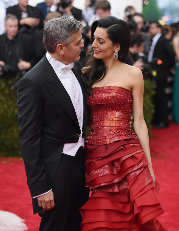 The look of love: George with Amal