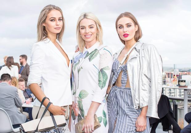 Thalia Heffernan, Pippa O'Connor & Roz Purcell pictured at The Marker Hotel's summer garden party on the rooftop. Photo: Anthony Woods
