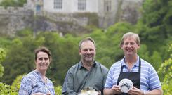 THE COLLECTIVE: Jeweller Una O'Dwyer, goldsmith Moritz Schurmann and glassmaker Eugene Young at Lismore Craft Studio in Lismore, Co Waterford. Photo: Patrick Browne