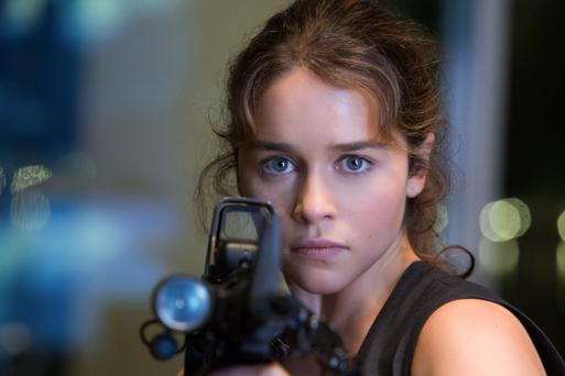 Time warp: Emilia Clarke is Sarah Connor in the new 'Terminator'