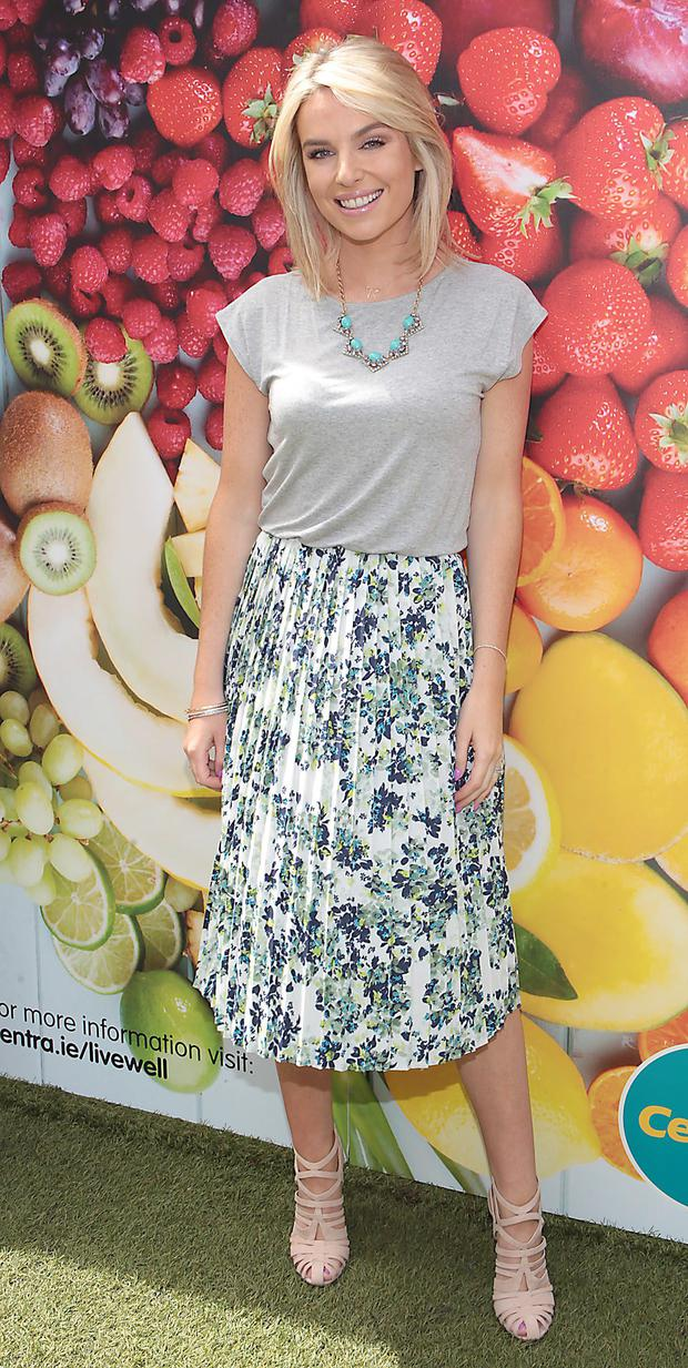 Pippa O'Connor pictured at the Centra Live Well launch at House, Leeson Street, Dublin