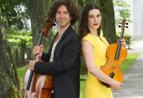 Food of love: Romanians Mantu and Andreea Banciu came from Bucharest to Galway in 2003, and are now half of the RTE Contempo Quartet. Photo: Andrew Downes