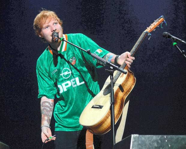 Regular visitor: Ed Sheeran performs at the 3Arena in October 2015 Photo: G. McDonnell