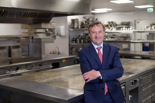 Stephane Robin, restaurant manager, in the kitchen at Patrick Guilbaud. Photo: Mark Condren