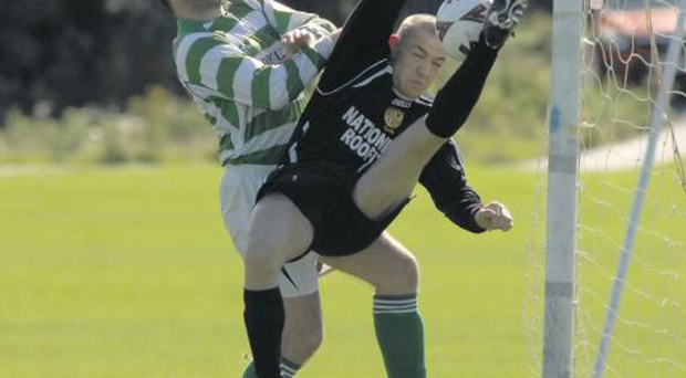 McGregor in action in his days with Leinster Senior League team Yellowstone United