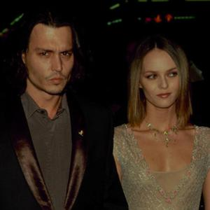 Johnny Depp with Lily-Rose's mother, Vanessa Paradis