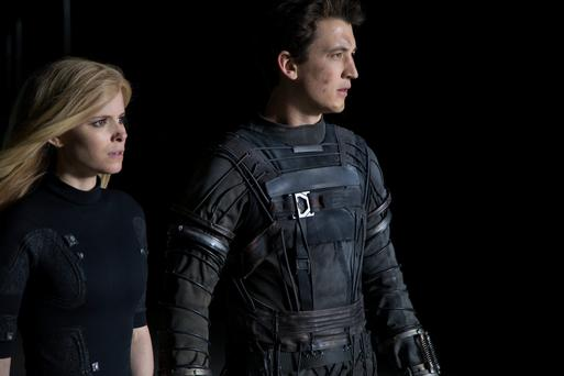 Falls to pieces: Kate Mara and Miles Teller are let down by the ending of the 'Fantastic four' reboot