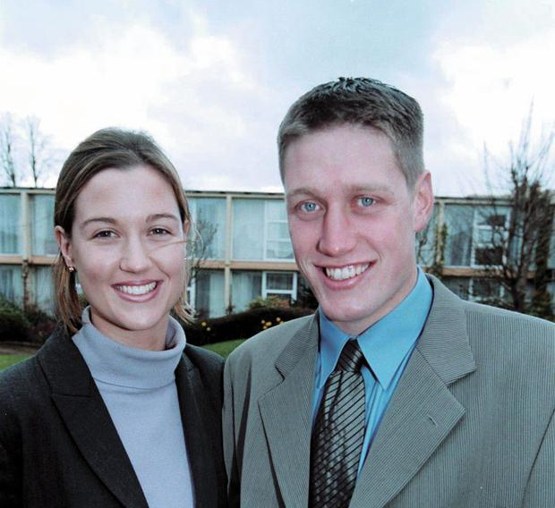 Leeside: Jessica Daly, pictured here with husband Ronan O'Gara,