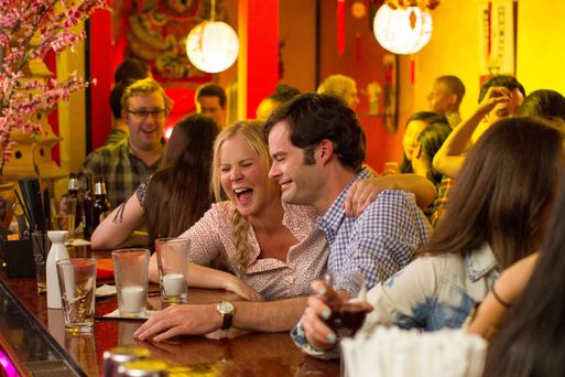 Apatow for destruction: Amy Schumer and Bill Hader star in Judd Apatow's latest comedy offering, 'Trainwreck'