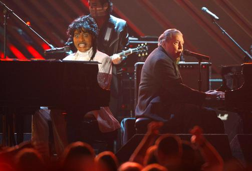 Great Balls of Fire: Jerry Lee Lewis playing at the Grammy's a few years ago.