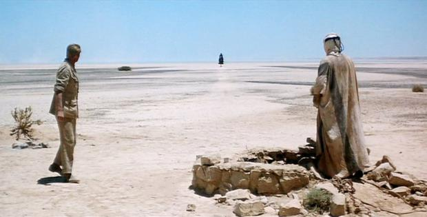The iconic opening scene of Lawrence of Arabia