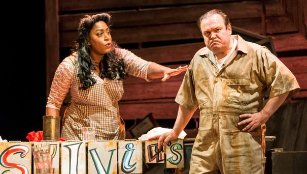 Stars: Mica Paris and Shaun Williamson in Love Me Tender. Photo: Johan Persson