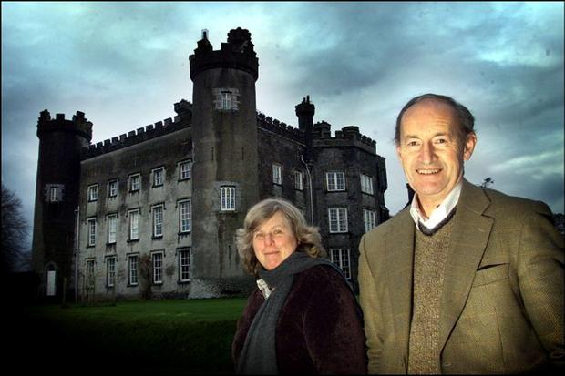 Historic house: Thomas and Valerie Pakenham at home at Tullynally Castle. The 120-room neo-gothic castle in Westmeath is over 350 years old and is the largest house continuously in private hands. Photo: David Conachy.